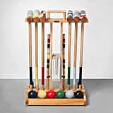 Indulge in some old-fashioned outdoor fun with this Croquet Set With Cart ($100).