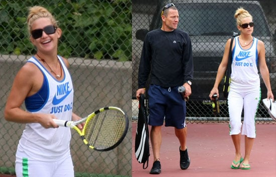 Photos of Kate Hudson and Lance Armstrong on the Tennis Court