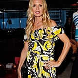 Rachel Zoe looked stylish in an off-the-shoulders dress.