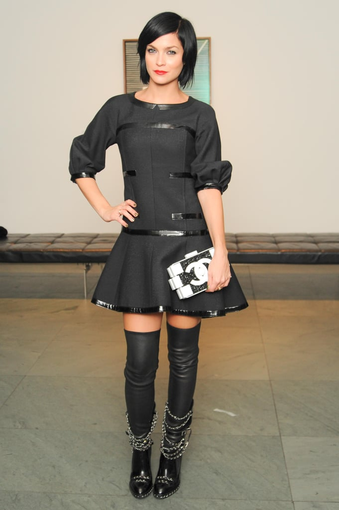 Leigh Lezark went dark in Chanel's black separates while at MoMA's Film Benefit.