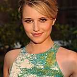 Dianna Agron showed a smile at Coach's Summer Party on the High Line in NYC.