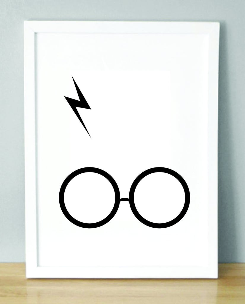 Harry Potter Glasses and Scar Print ($2)