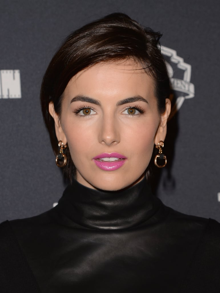 Earlier this week, Camilla Belle showed us how to hide blunt bangs with her chic, deep side-parted style. And we loved how the look made us focus on her makeup even more. Makeup artist Kinzee Kubek created the look using Armani Luminous Silk Foundation ($60) for flawless skin. After a touch of neutral eye shadow, she enhanced Camilla's eye with liner and mascara. But the focal point of her look was the Nars Pure Matte Lipstick in La Paz ($26).
