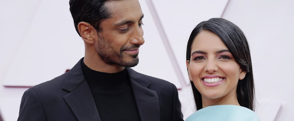 See Riz Ahmed Fix His Wife's Hair on the Oscars Red Carpet