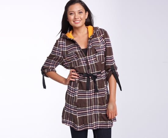 Plaid Hooded Jacket, $52
