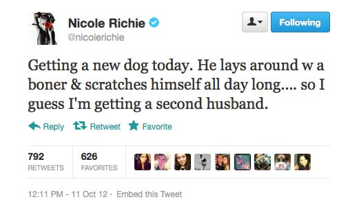 Nicole Richie. Call of the week.