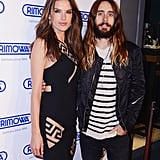 Alessandra Ambrosio and Jared Leto showed off their enviable locks at the Rimowa store opening in NYC on Tuesday.