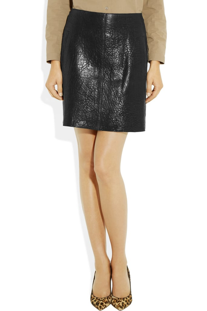 Not too short, not too long, this Carven texture leather skirt ($392, originally $980) fits just right.