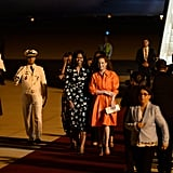 They were greeted by Moroccan Princess Lalla Salma at the Marrakesh international airport.