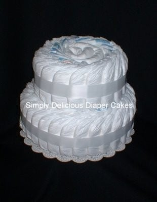 Unfrosted Diaper Cake