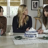 We mean, look at Aria's brown topper. Gotta have it. Need to have it!