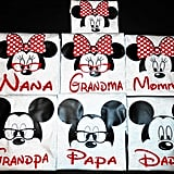 Disney Matching Family Shirts With Glasses