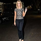 An embellished Collette Dinnigan top and Wrangler skinny jeans made for fun, and less formal, combo.