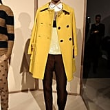 A bright yellow peacoat from J. Crew.