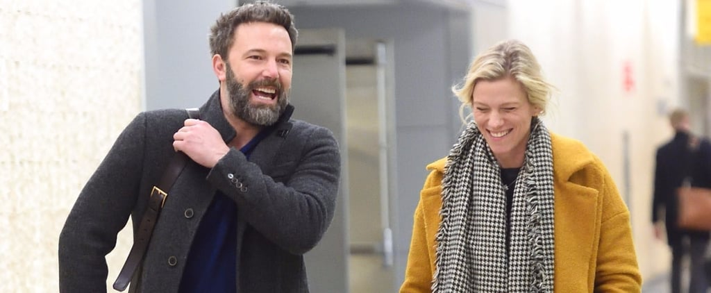 Ben Affleck and Lindsay Shookus Can't Stop Giggling With Each Other at JFK