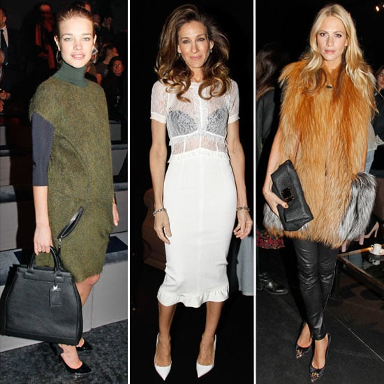 Celebrities at Paris Fashion Week 2012