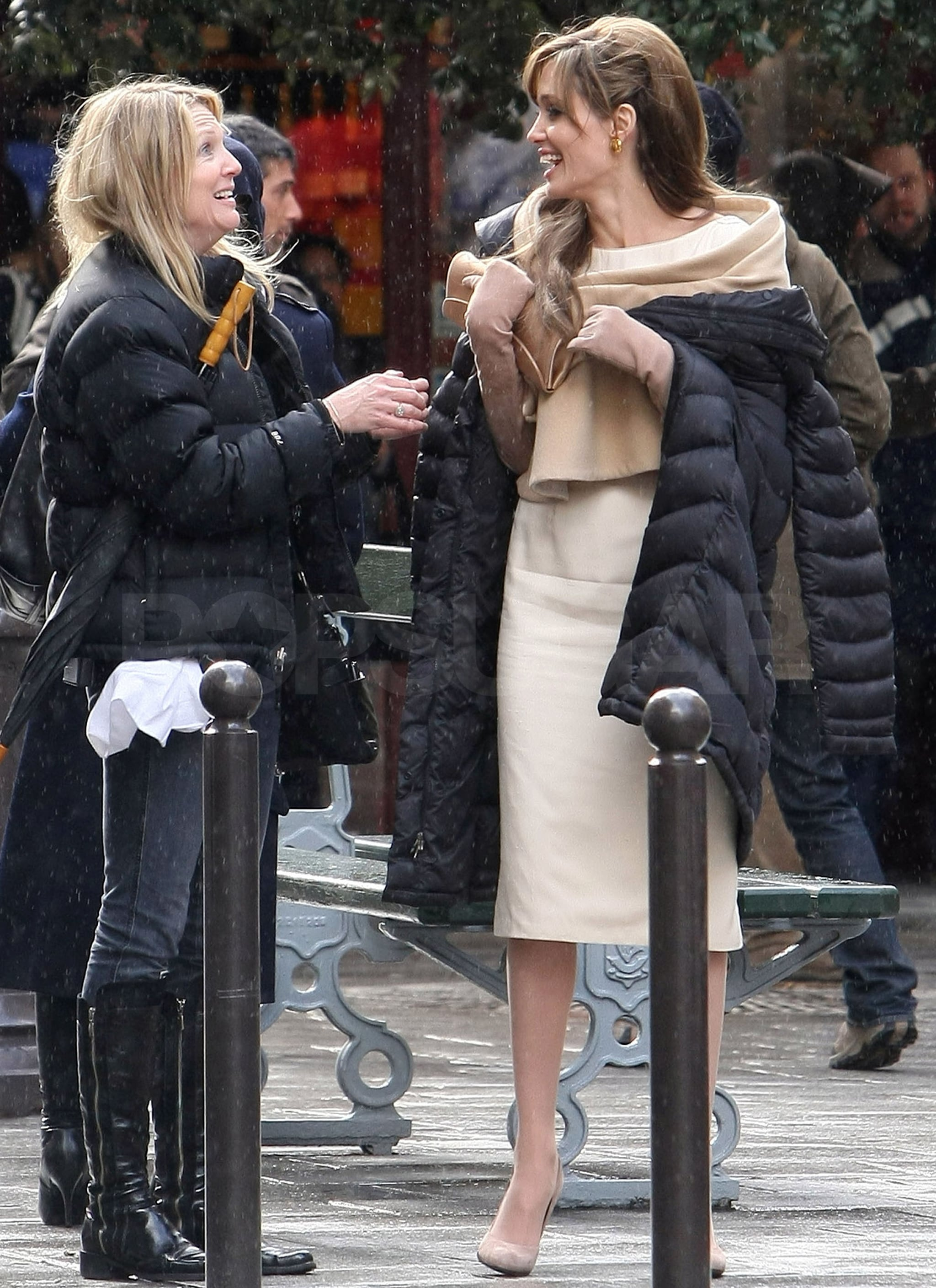 Special Interest Auto >> Photos of Angelina Jolie Filming The Tourist in Paris After a Very Public Date Night With Brad ...