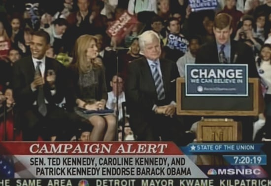Check This: Kennedy Mantel Passed to Obama
