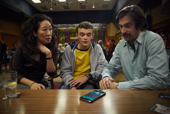KILLING EVE, from left: Sandra Oh, Sean Delaney, Owen McDonnell, (Season 1, ep. 101, airs April 8, 2018). photo: BBC-America / Courtesy: Everett Collection