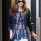 Miranda Kerr Makes a Stylish String of NYC Appearances With Flynn and Frankie