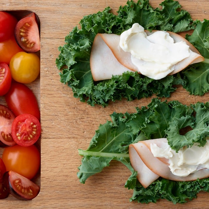 Turkey Kale Wraps