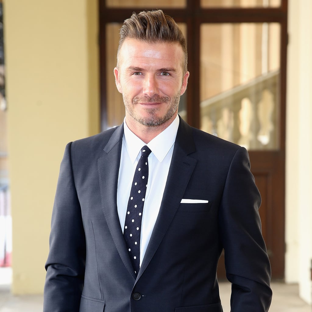 David Beckham at Buckingham Palace With the Queen