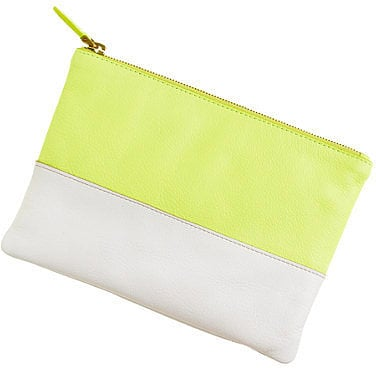 An on-trend J.Crew colorblock clutch ($50) that makes the day-to-night transition easy.