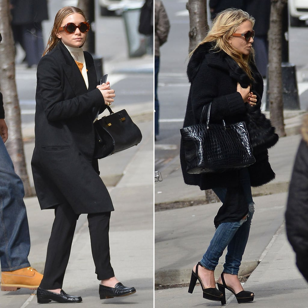 Mary-Kate and Ashley Olsen at a Meeting in NYC