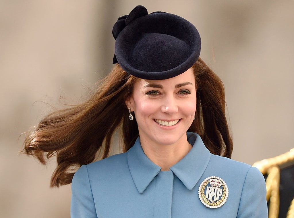 At a 2016 event celebrating the 75th anniversary of the Royal Air Force air cadets, Kate accented her perfect hair with a sapphire topper.