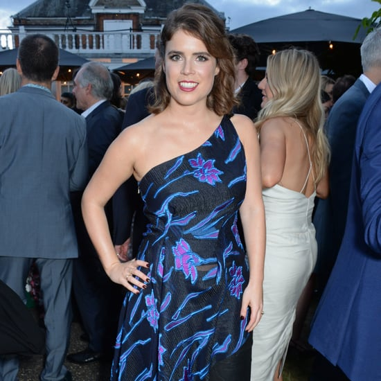 Princess Eugenie Wearing a Dress Over Trousers