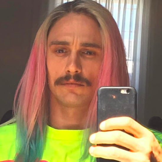 James Franco With Rainbow Hair | August 2016