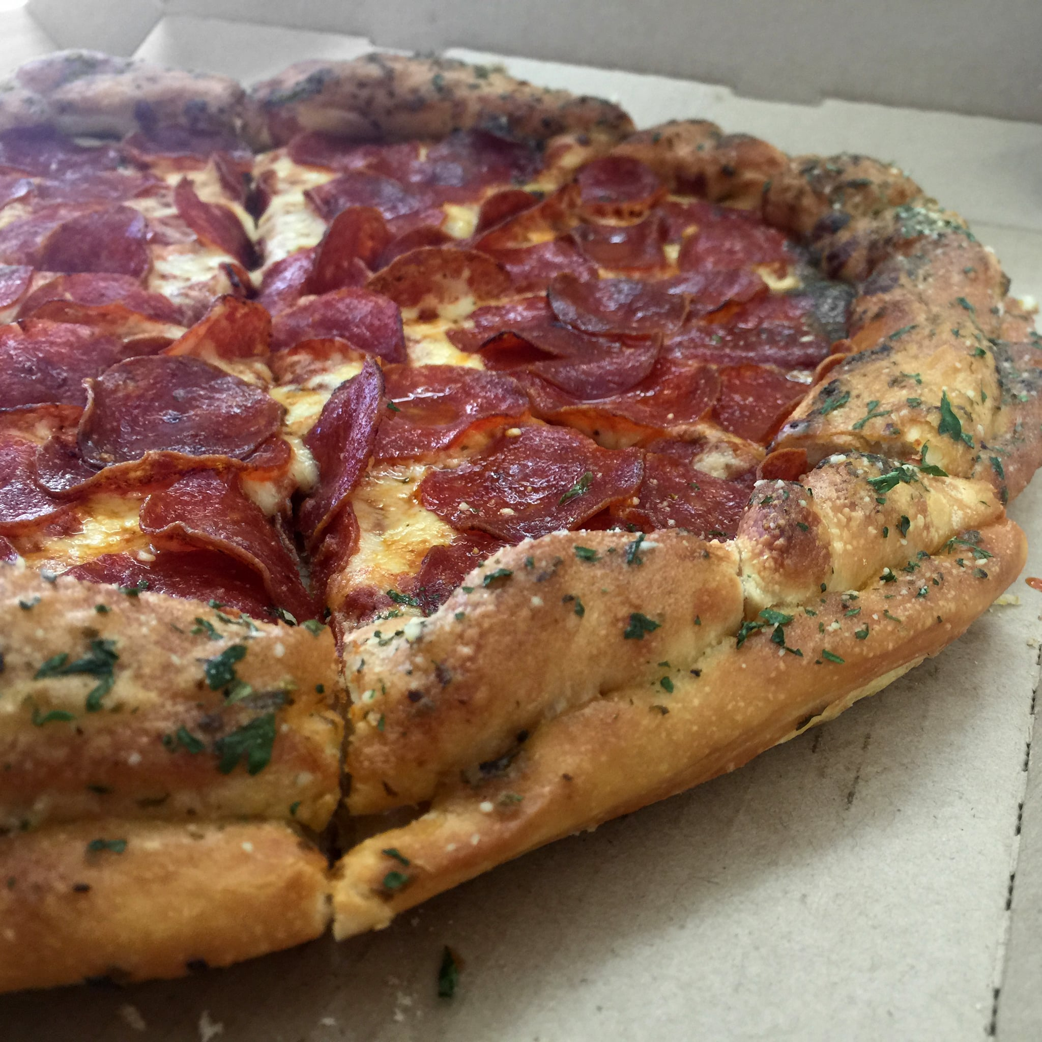 Pizza Hut Breadstick Crusted Pizza Review Popsugar Food