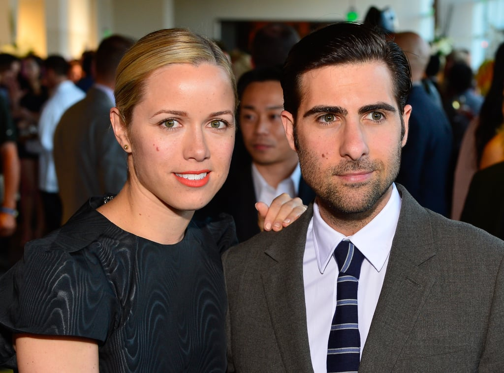 Jason Schwartzman Smiled With Wife Brady Cunningham At An Event In Kristen Wiig And Fabrizio Morretti Pda Pictures Popsugar Celebrity Photo 4