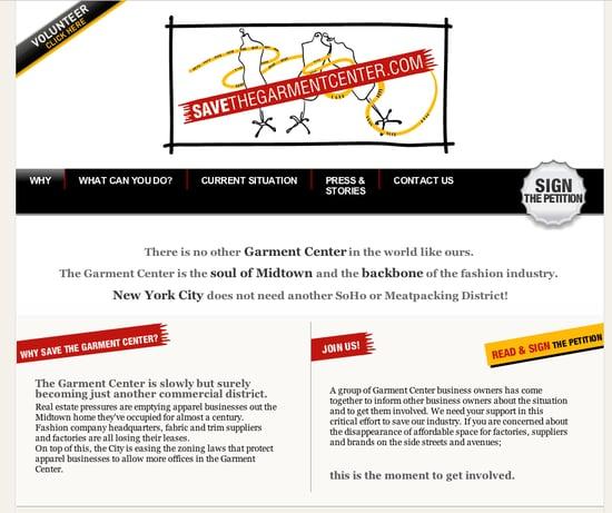 Fab Site: SaveTheGarmentCenter.com