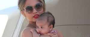 Chrissy Teigen, John Legend, and Baby Luna Spend an Afternoon Yachting Around Saint-Tropez