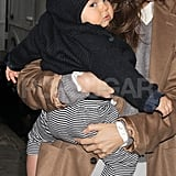 Flynn Bloom was adorable on the hip of Miranda Kerr.