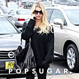 Jessica Simpson chatted on her phone in LA.