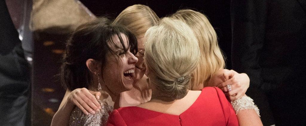 Best Actress Group Hug at the 2018 Oscars
