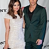 Lucy Hale arrived with her friend Colton Haynes.