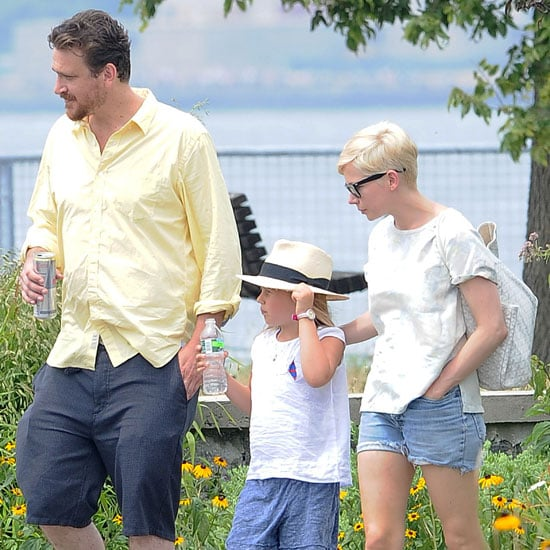 Jason Segel and Michelle Williams Walking With Matilda