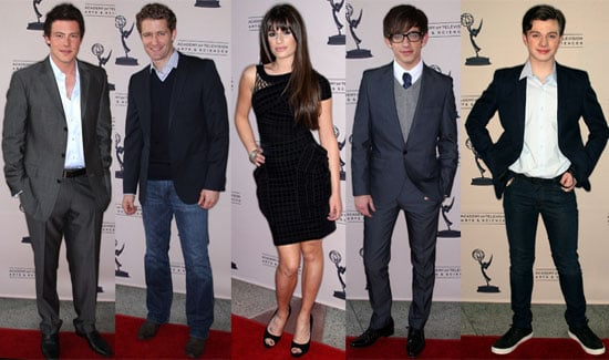 Pictures of the Cast of Glee at the Academy of Television and Sciences in LA