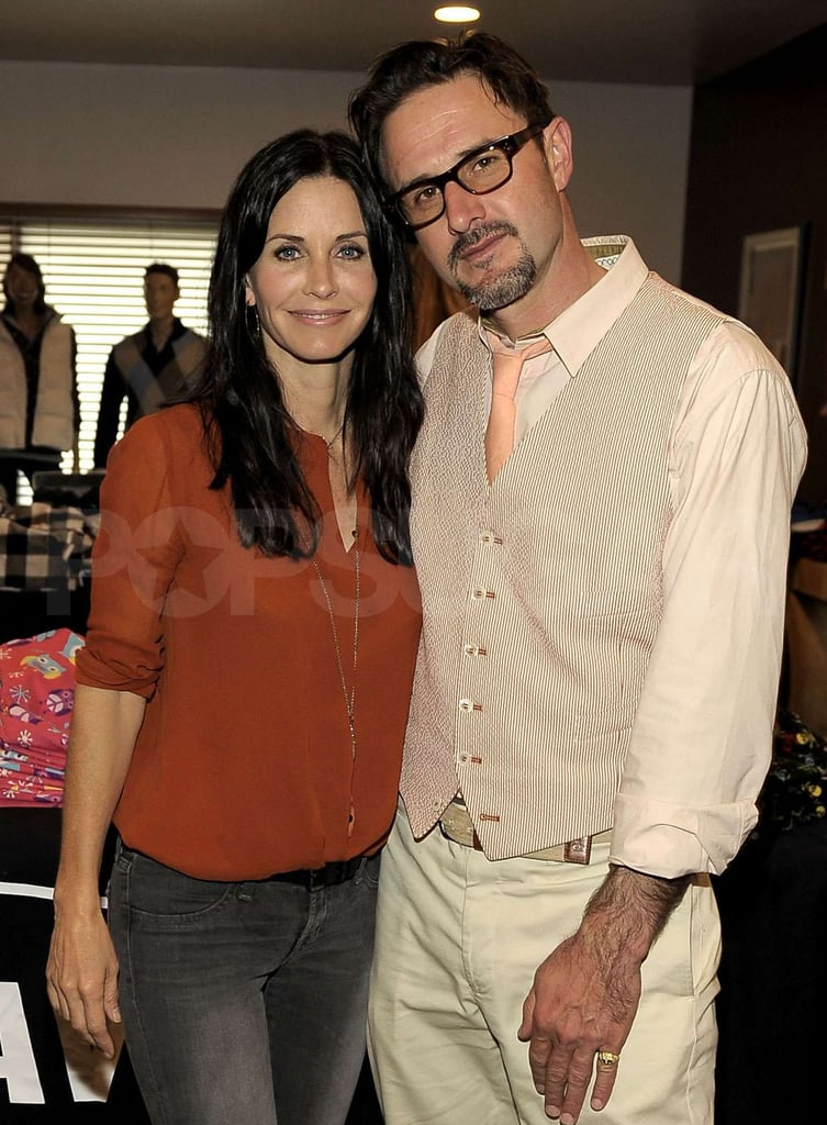 Courteney Cox and David Arquette at Rock & EBowl Event