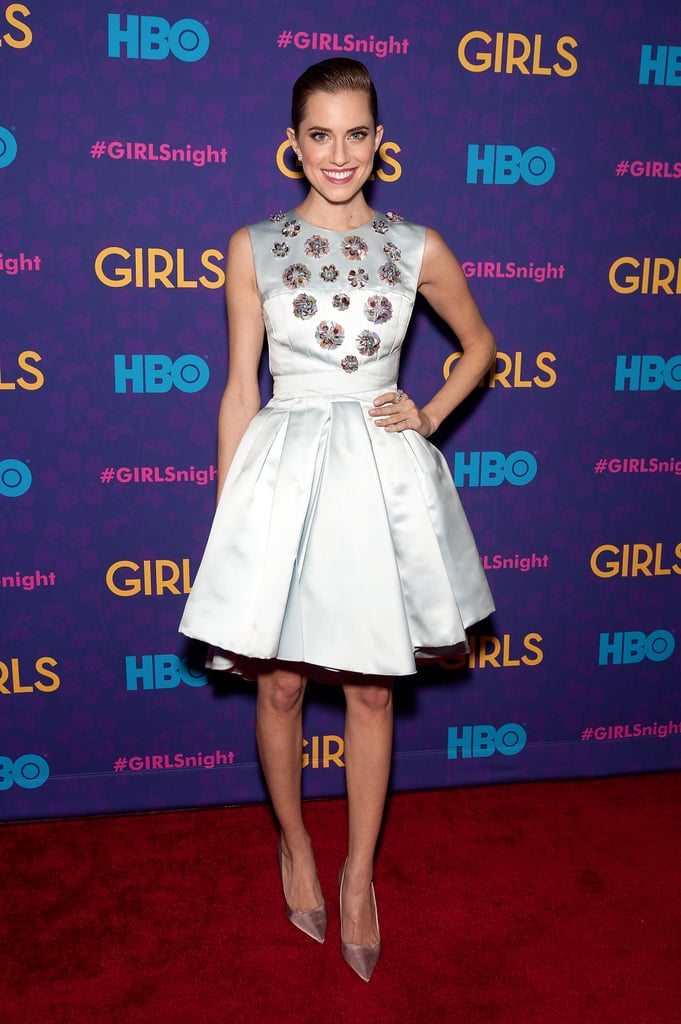 At the Girls season-three premiere, Allison looked sophisticated and polished in this knee-length Christian Dior number.