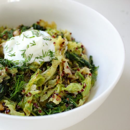 Eat Clean: Digestion-Relieving Toasted Quinoa and Cabbage