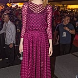 Emma Stone at a Singapore Fan Event For The Amazing Spider-Man 2 in 2014