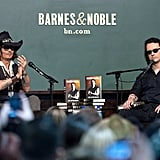 Johnny Depp (looking very Jack Sparrow-like) was on-hand to support his close friend Damien Echols at his book launch on September 21. Depp campaigned tirelessly to get Echols released after he was wrongfully imprisoned as part of the West Memphis Three.