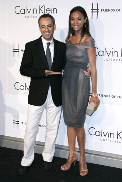 Zoe Saldana wore Calvin Klein, of course, to the brand's party in '09.