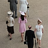 Kate Middleton and family members walked together at Buckingham Palace.