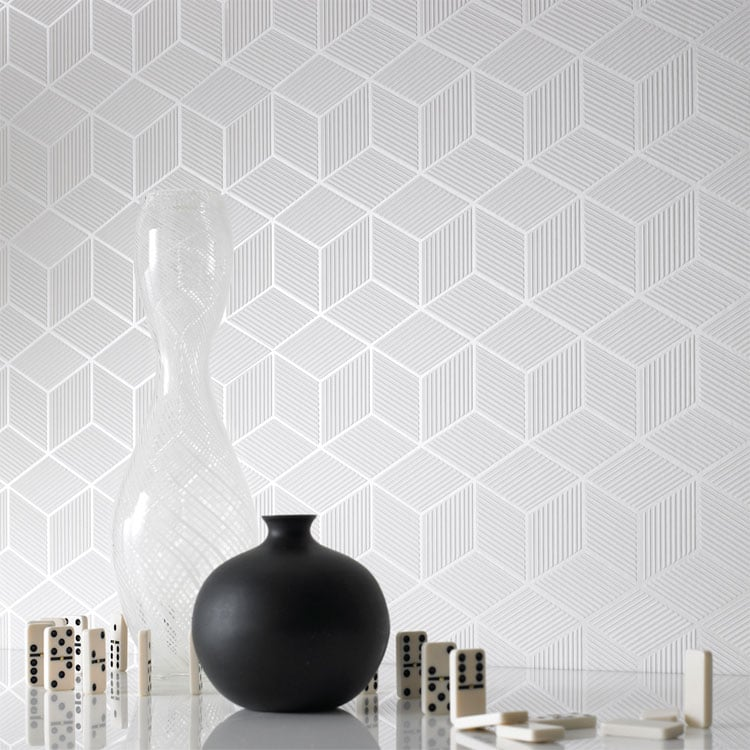 The Graham & Brown Cubix Wallpaper ($75 per yard) is an all-over wall solution for your geometric needs.