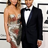 Chrissy Teigen and John Legend at the Grammys 2014